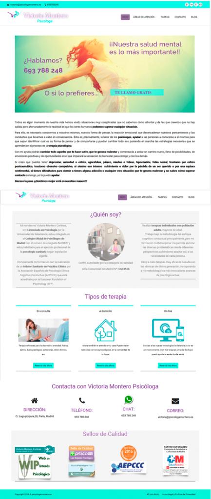 maquetacion web de psicologia